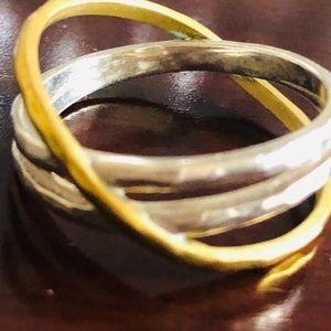 Silpada cross duo tone ring
